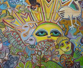 The Painting of Life by Mirka Mora - Accommodation Cairns