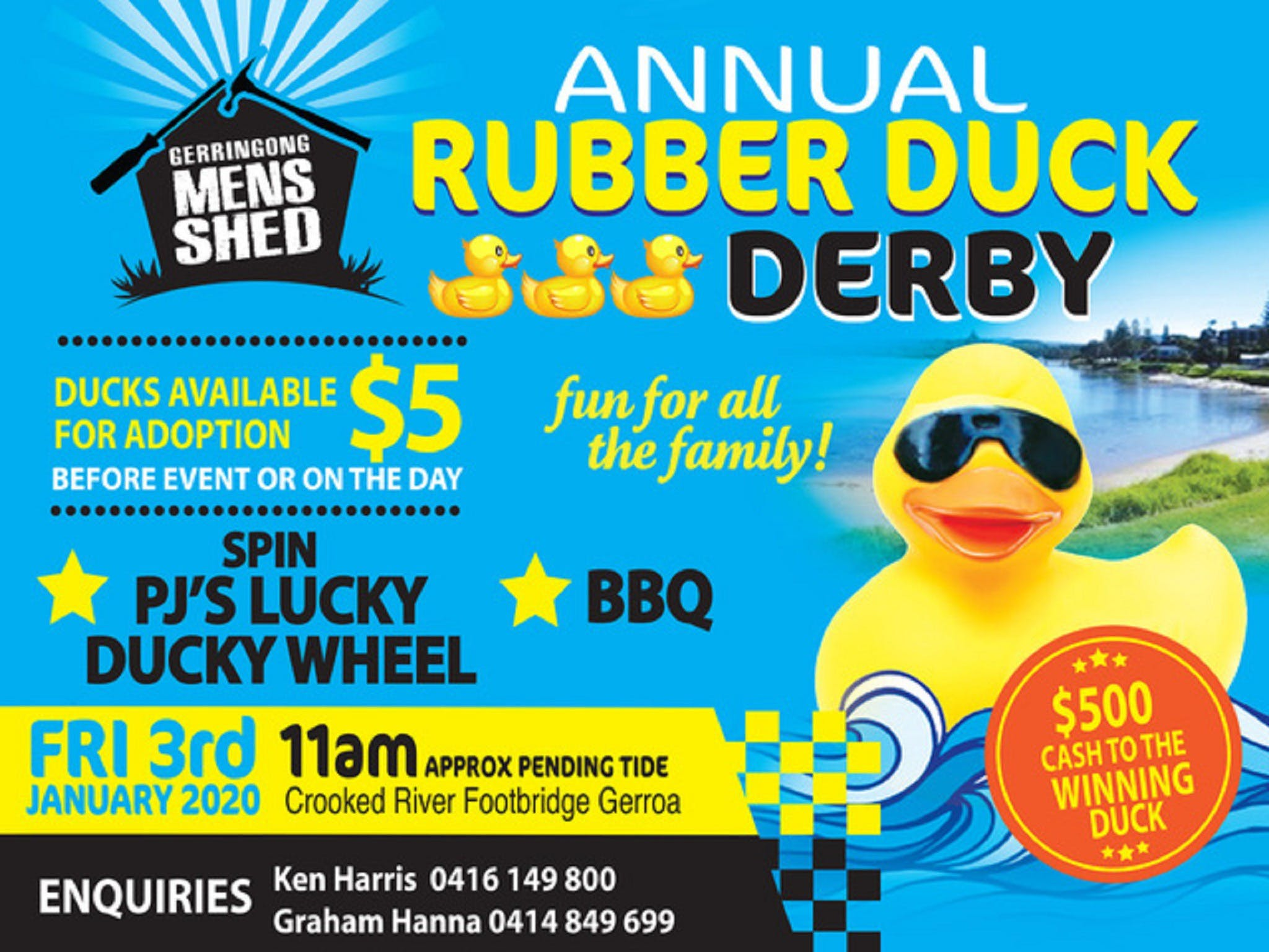 Gerringong Mens Shed Annual Duck Derby - Accommodation Cairns