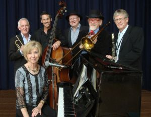 The Caxton Street Jazz Band in the Swigmore Hall at Robert Channon Wines - Accommodation Cairns